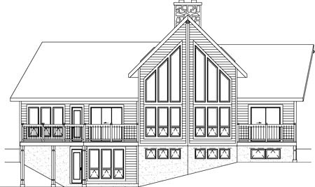 Farmhouse House Plan 49284 Rear Elevation