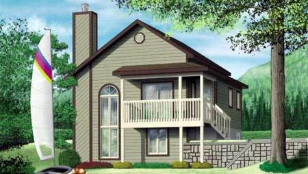 Contemporary House Plan 49287 Elevation