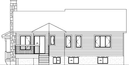 Country House Plan 49290 Rear Elevation