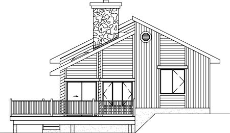 House Plan 49291 Rear Elevation