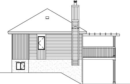 Contemporary House Plan 49292 Rear Elevation