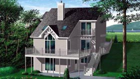 Contemporary House Plan 49293 Elevation
