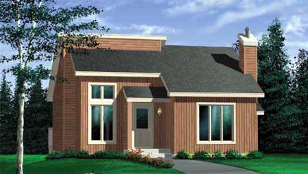 Contemporary House Plan 49295 Elevation