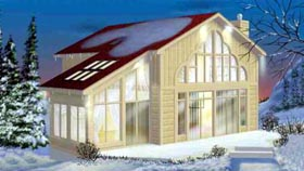 Contemporary House Plan 49297 Elevation