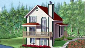 House Plan 49299 Elevation
