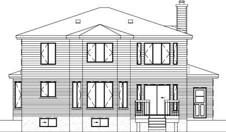 Traditional House Plan 49300 Rear Elevation