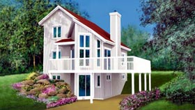Contemporary House Plan 49301 Elevation