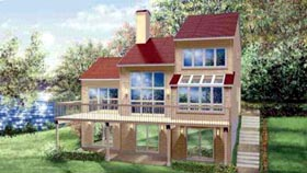 Contemporary House Plan 49307 Elevation