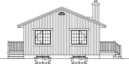 House Plan 49308 Rear Elevation