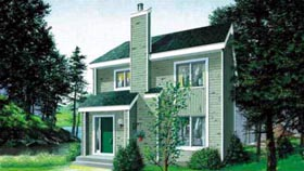 Traditional House Plan 49309 with 3 Beds, 3 Baths Elevation