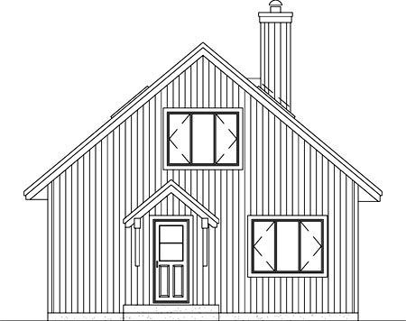 Traditional House Plan 49310 Rear Elevation