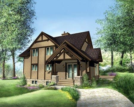 House Plan 49312 Rear Elevation