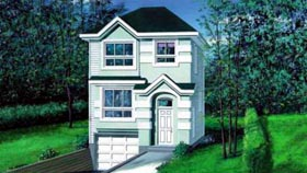Traditional House Plan 49314 with 3 Beds, 2 Baths, 1 Car Garage Elevation