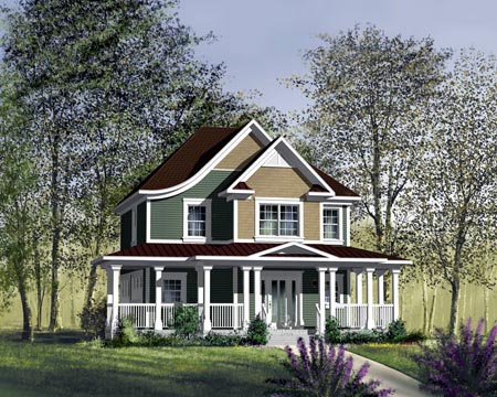 House Plan 49315 Elevation