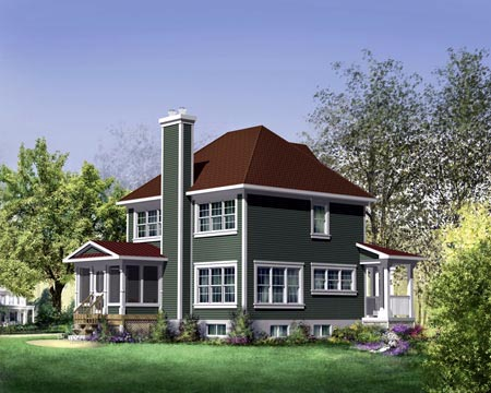 House Plan 49315 Rear Elevation