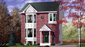 Colonial House Plan 49316 Elevation