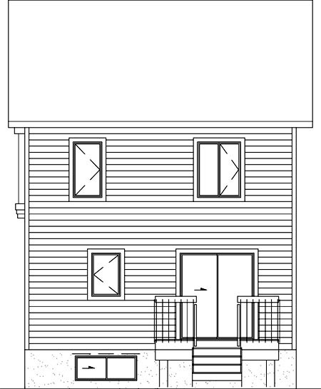 Colonial House Plan 49316 Rear Elevation