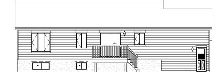 Colonial House Plan 49317 Rear Elevation