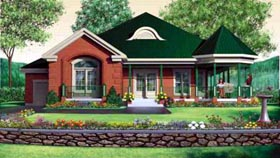 House Plan 49318 | Victorian Style Plan with 1929 Sq Ft, 3 Bedrooms, 2 Bathrooms, 1 Car Garage Elevation
