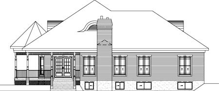 Victorian House Plan 49318 Rear Elevation