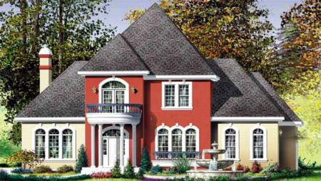 Colonial House Plan 49319 Elevation