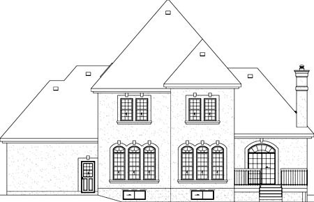 Colonial House Plan 49319 Rear Elevation