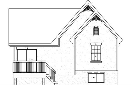 House Plan 49320 Rear Elevation