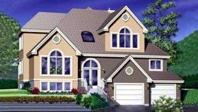 European House Plan 49321 Elevation