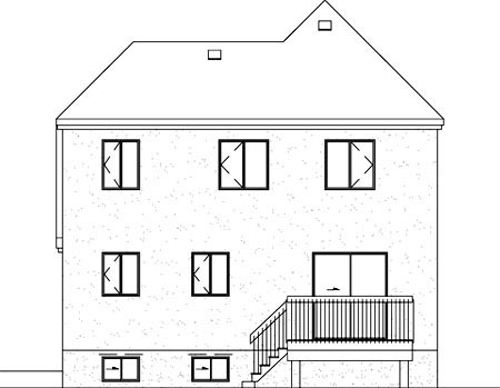 House Plan 49323 Rear Elevation