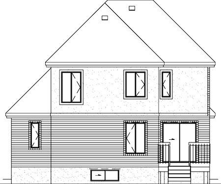 European House Plan 49327 Rear Elevation