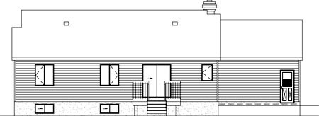 Ranch House Plan 49329 Rear Elevation
