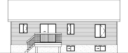 Colonial House Plan 49333 Rear Elevation