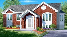 Colonial House Plan 49336 with 2 Beds, 1 Baths Elevation