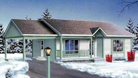 Ranch House Plan 49337 Elevation