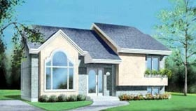 Contemporary House Plan 49341 Elevation