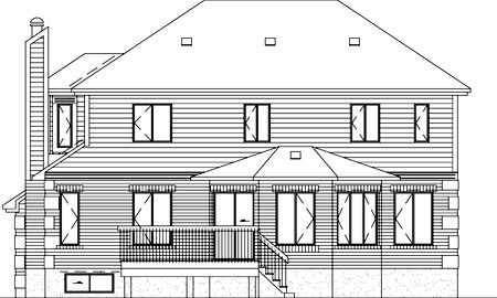 House Plan 49342 Rear Elevation