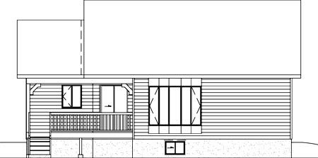 House Plan 49344 Rear Elevation