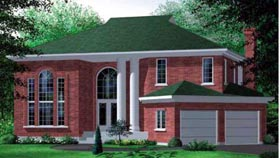 Colonial House Plan 49346 Elevation