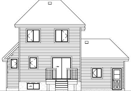 Craftsman House Plan 49348 Rear Elevation