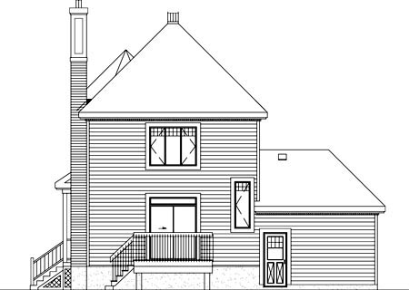 Victorian House Plan 49349 Rear Elevation