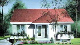 House Plan 49350 Elevation