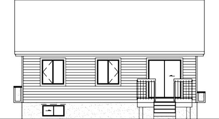 House Plan 49350 Rear Elevation
