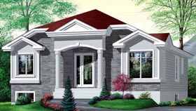 Colonial House Plan 49351 Elevation