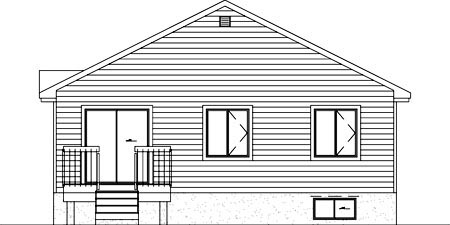 Colonial House Plan 49351 Rear Elevation