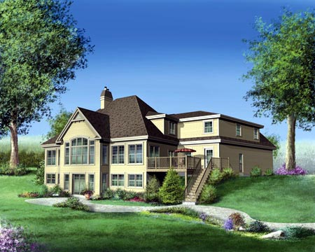 House Plan 49352 Rear Elevation