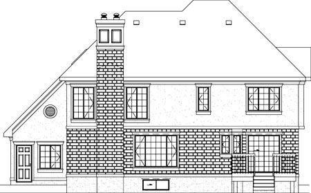 Tudor House Plan 49357 Rear Elevation