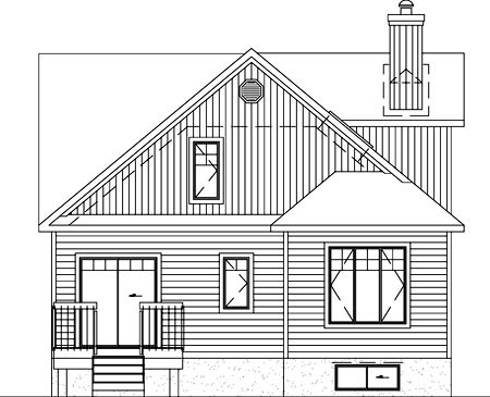 Farmhouse House Plan 49359 Rear Elevation