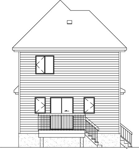 Victorian House Plan 49360 Rear Elevation