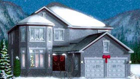Traditional House Plan 49361 with 4 Beds, 3 Baths, 2 Car Garage Elevation