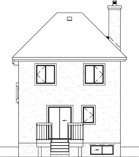 House Plan 49363 Rear Elevation